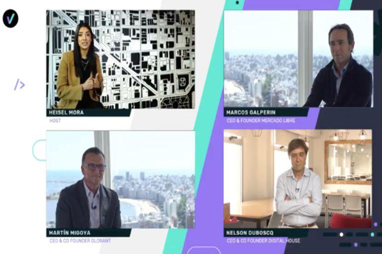 Marcos Galperin (Mercado Libre), Martín Migoya (Globant) y Nelso Duboscq (Digital House) explicaron el programa de la carrera de programadores que lanzaron en conjunto