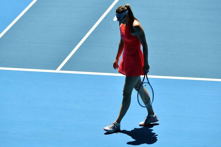 Sharapova caerá hasta debajo del puesto 350° y dejó su futuro tenístico en duda