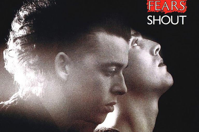 """Afiche promocional de """"Shout"""", de Tears for Fears"""