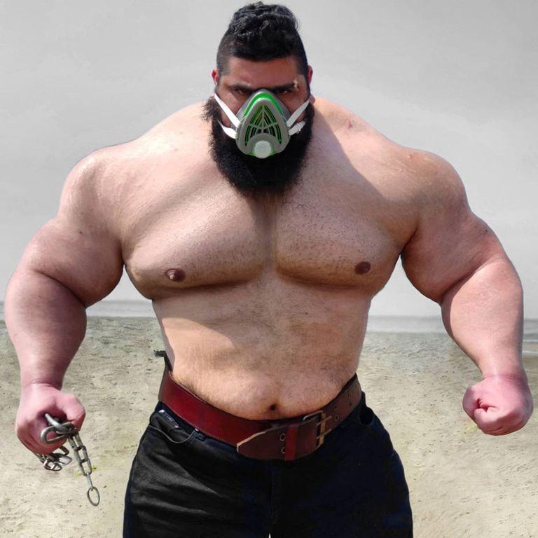 """""""Volví para vengarme"""": el Hulk iraní se prepara para un histórico combate"""