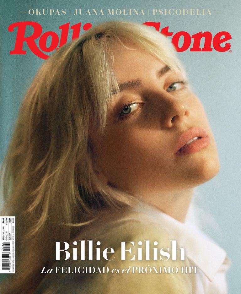 Billie Eilish en la tapa de julio de 2021 de Rolling Stone Argentina