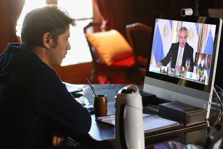 El Gobernador siguió ayer a la distancia el anuncio por la deuda del Presidente