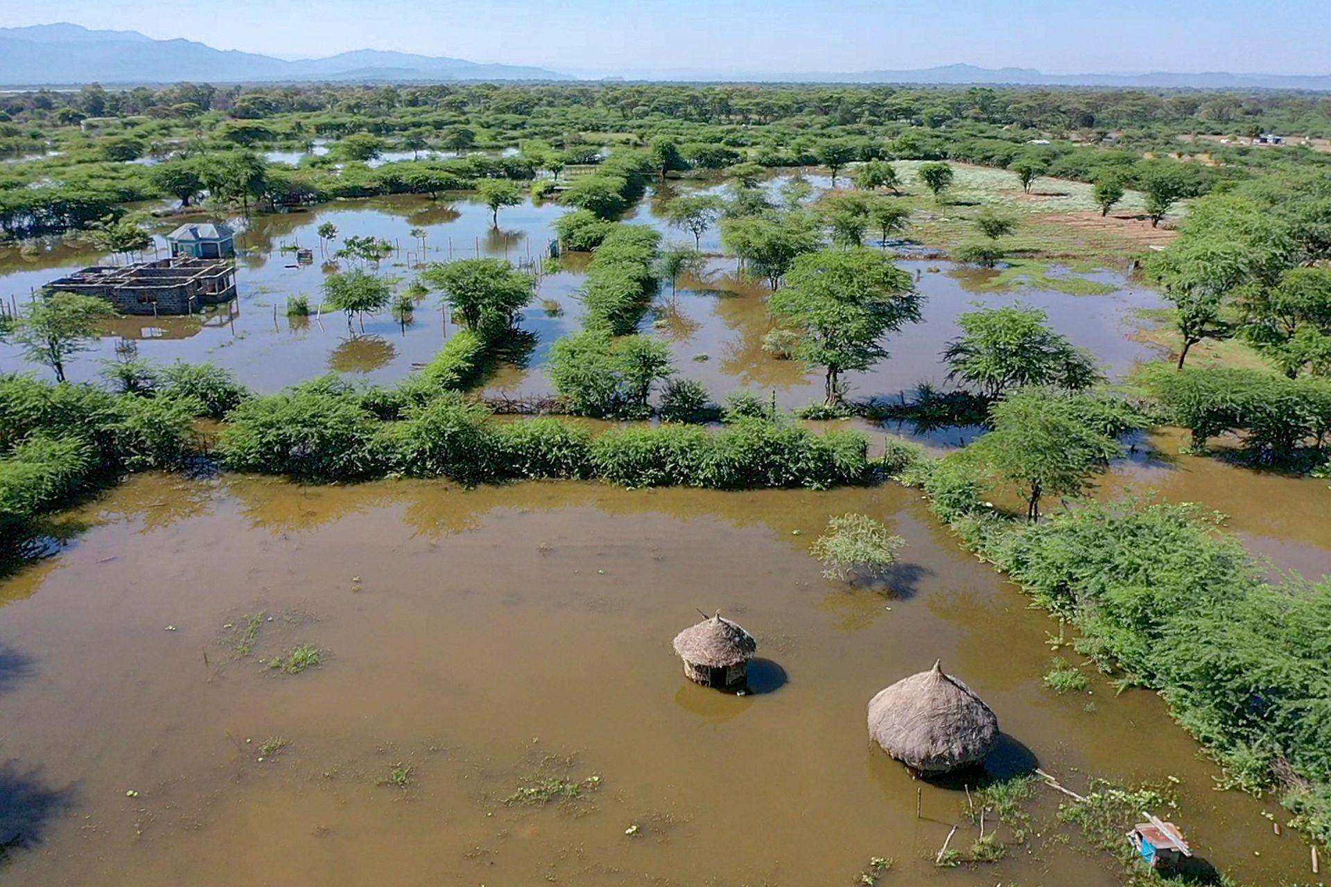 Baringo y los otros grandes lagos del valle del Rift, en Kenia, han alcanzado niveles sin igual en más de 50 años