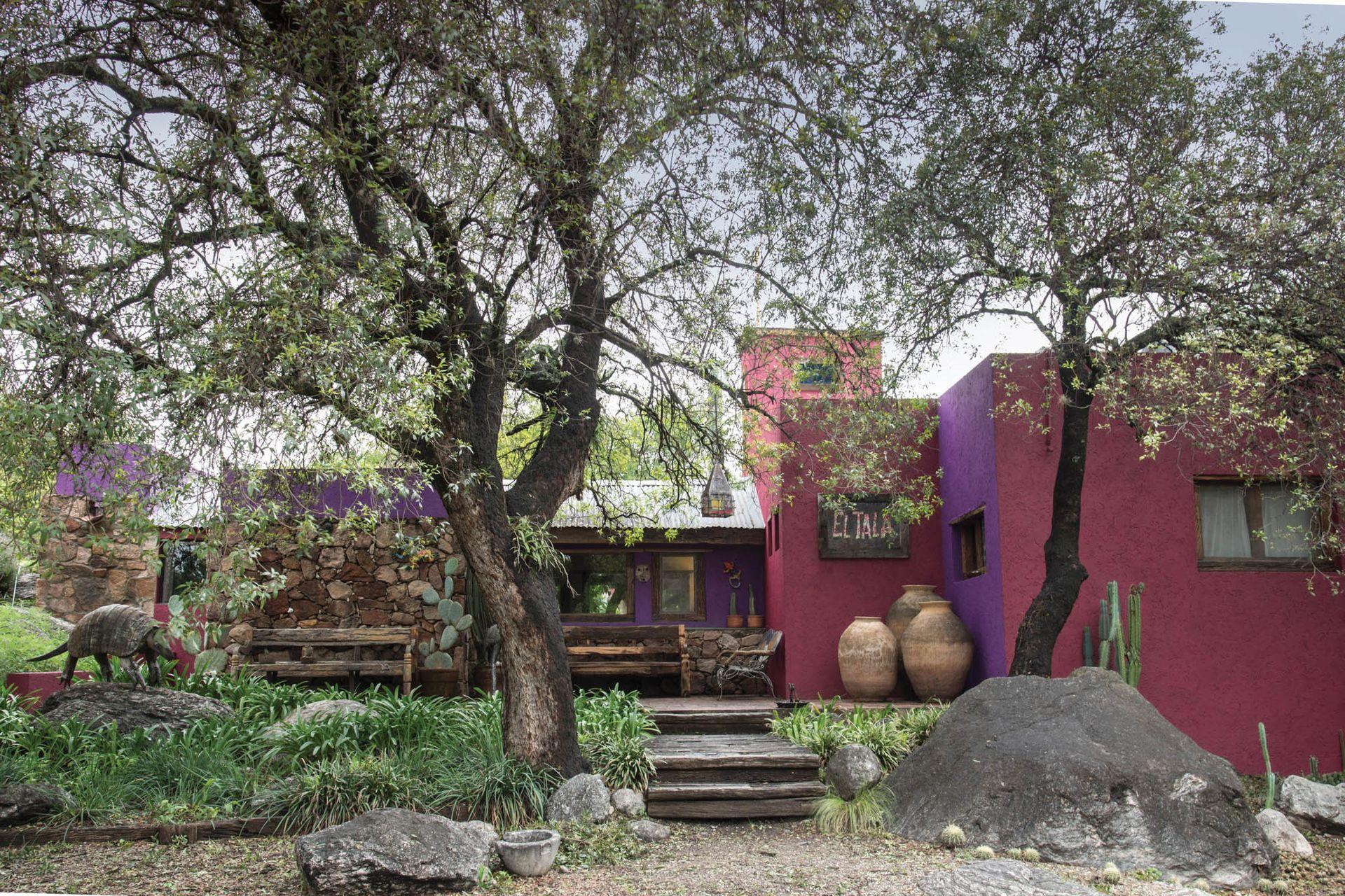 Cactus, árboles nativos, obras de arte de artistas locales y vasijas norteñas suman identidad y carácter a la fisonomía de la finca El Tala.