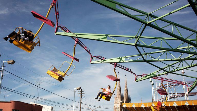 En el Argenpark de Luján todavía funcionan juegos del Italpark