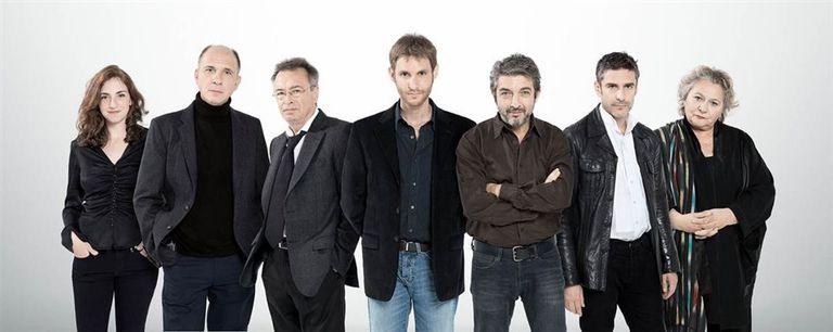Zylberberg, Grandinetti, Martínez, Szifrón, Darín, Sbaraglia y Cortese