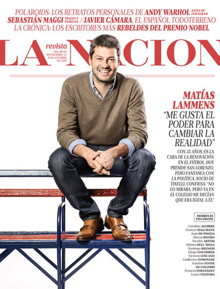 Lammens, este domingo, en la tapa de La Nacion Revista