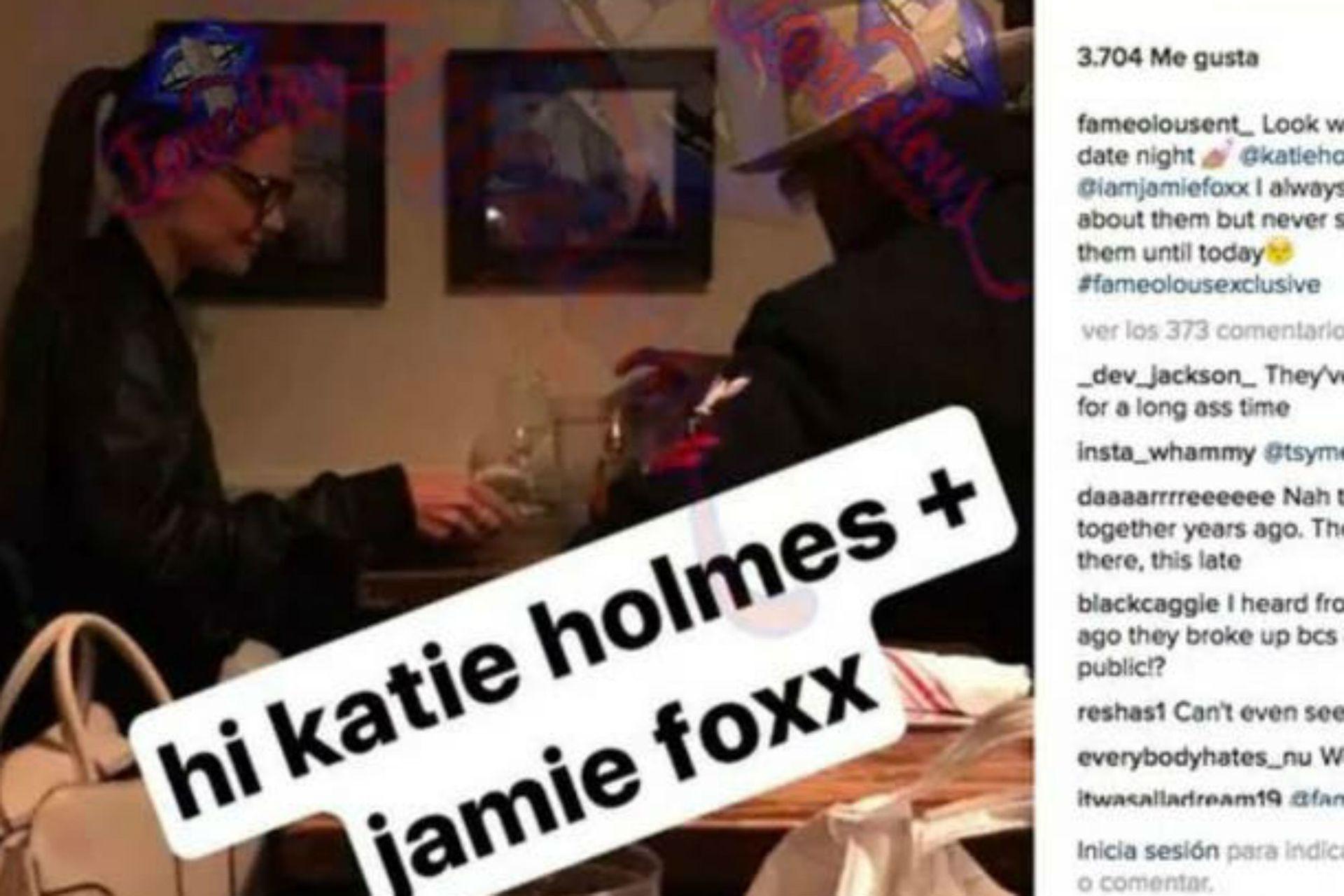 Una de las primeras fotos de Holmes y Foxx que se volvió viral