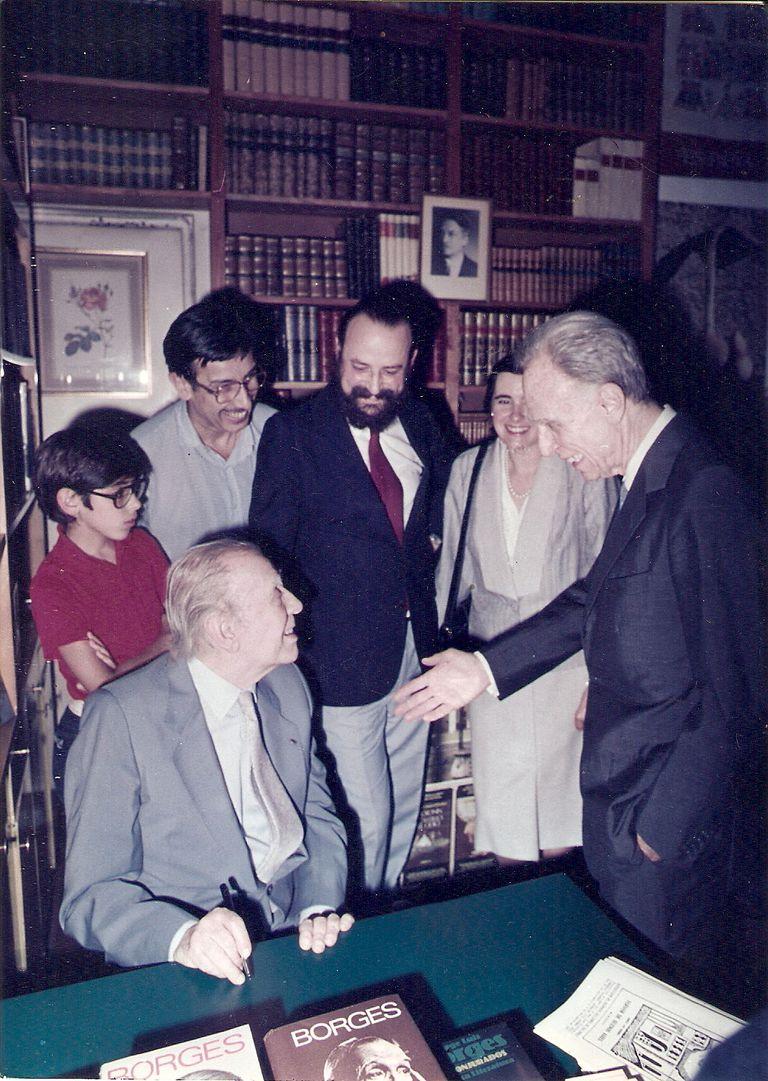 Borges y Adolfo Bioy Casares, cara a cara por última vez