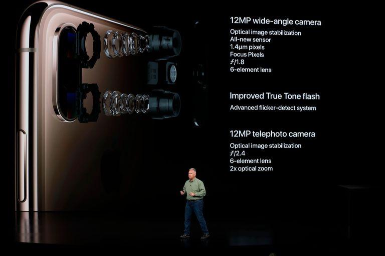 La doble cámara trasera del iPhone XS