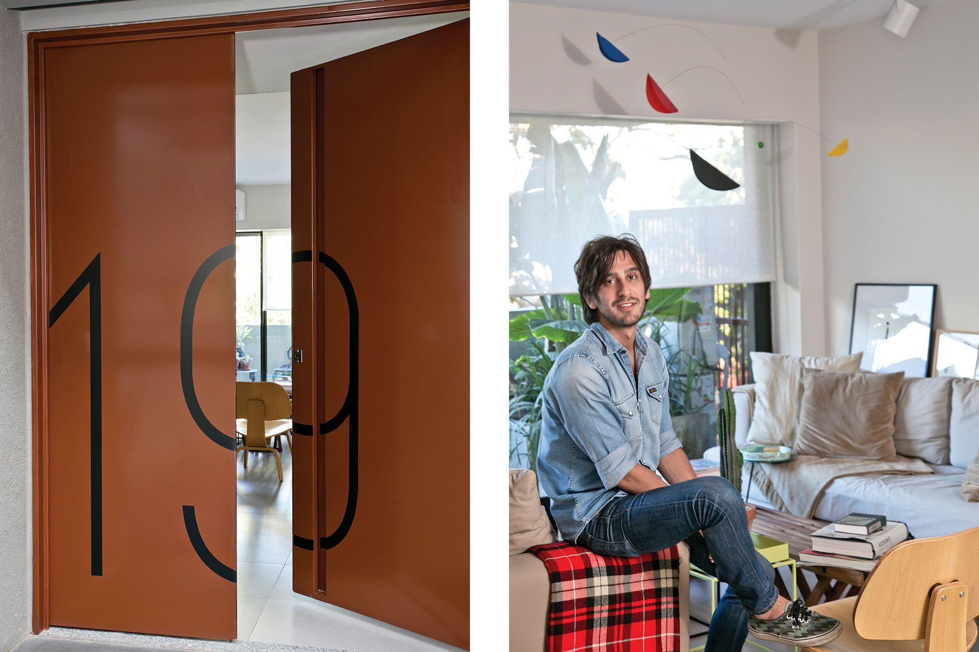 """Ezequiel es arquitecto. Eligió el edificio porque quería escaparle a """"Palermo Caótico""""."""