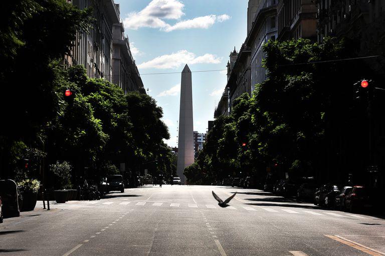 La Ciudad de Buenos Aires, desierta durante la cuarentena