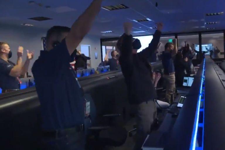 Video: el festejo del equipo de la NASA tras el exitoso aterrizaje del Perseverance