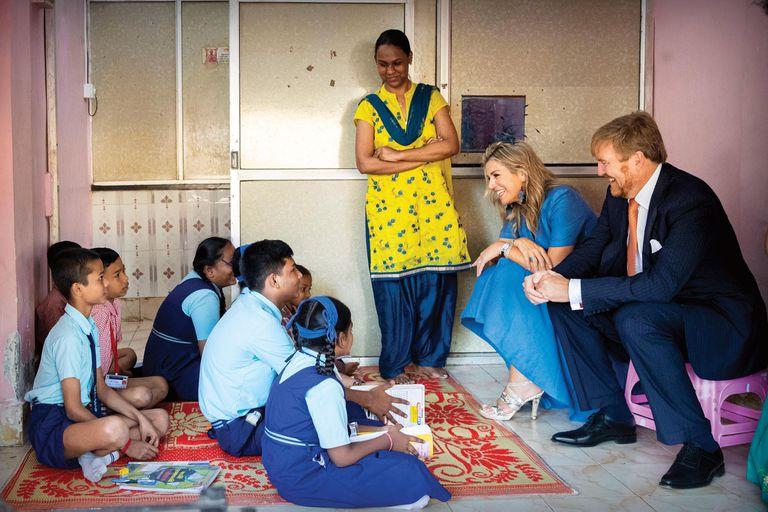 Durante su visita a la ONG fundada por la holandesa Laurien Meuter, los Reyes hablaron con chicos que les contaron sus anhelos.