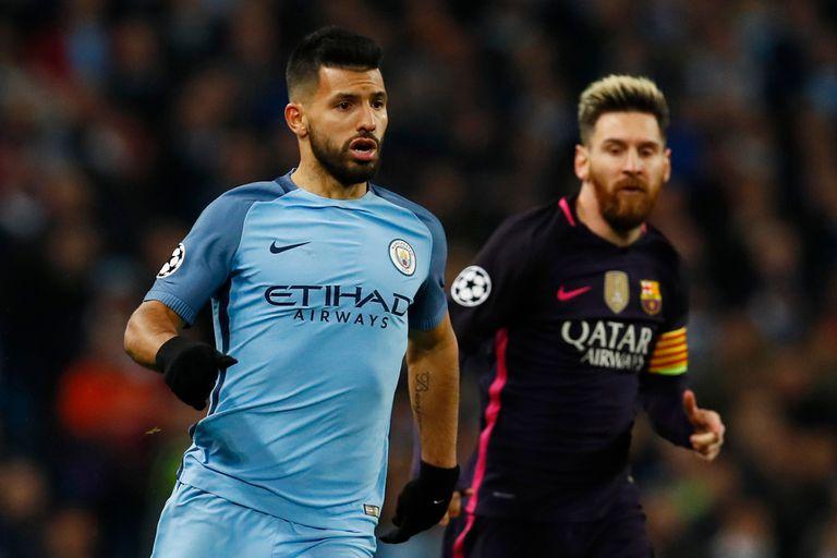 Agüero y Messi; rivales durante mucho tiempo, podrían ser compañeros en Barcelona
