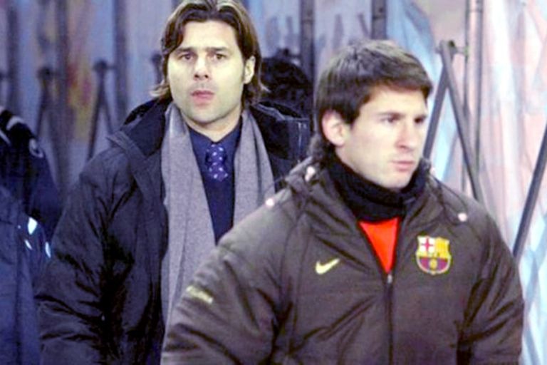 Pochettino como DT de Espanyol y Messi como rival; Newells es el hilo conductor entre ambos