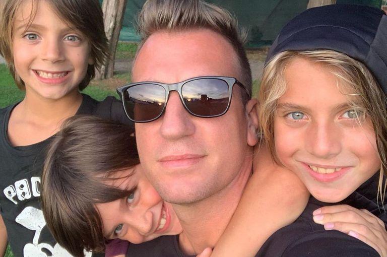 Maxi López se reencontró con sus hijos después de ocho meses