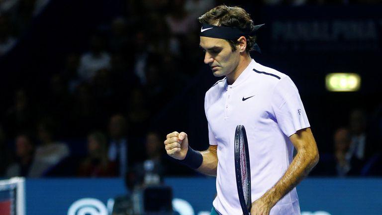Federer venció con contundencia a Goffin
