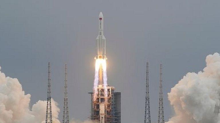 El cohete chino fue lanzado la semana pasada