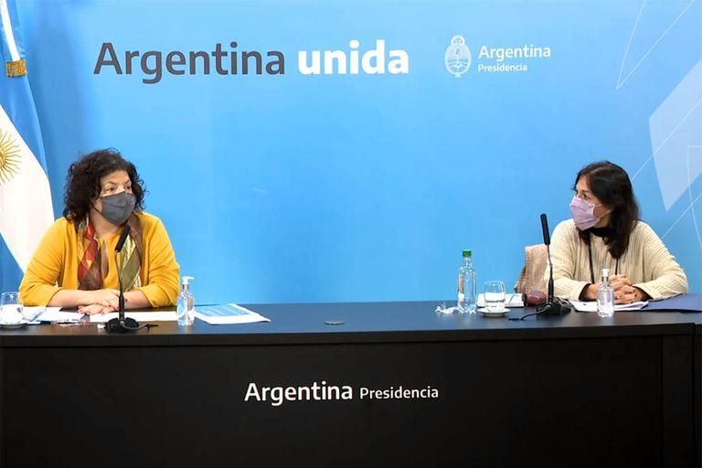 Conferencia de Carla Vizzotti y Vilma Ibarra
