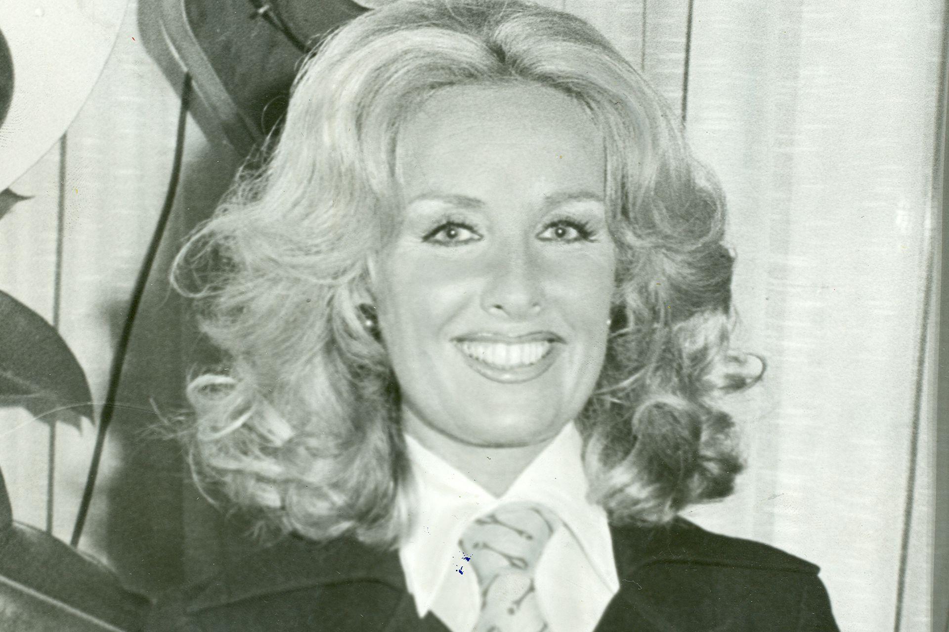 MIrtha Legrand, en 1972, antes de empezar su programa