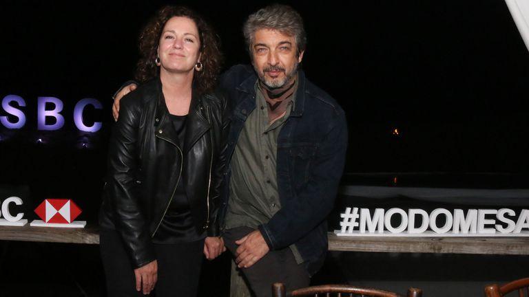 Darín y su mujer Florencia, en un evento realizado en Punta del Este