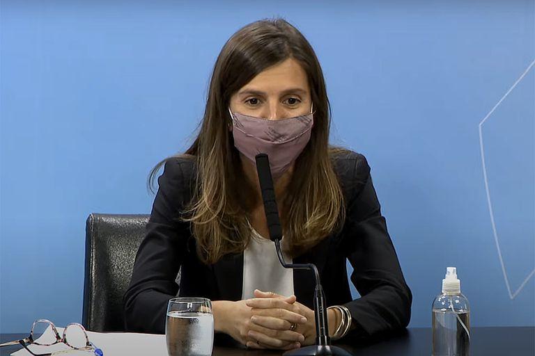 Fernanda Raverta, la titular de la Anses, desalentó las versiones sobre su candidatura en las últimas semanas