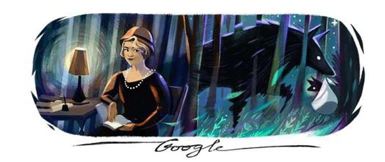 La renombrada poeta feminista latinoamericana, post-moderna, fue recordada junto a una alusión a su poema La loba, incluido en su primer libro La inquietud del rosal (1916)