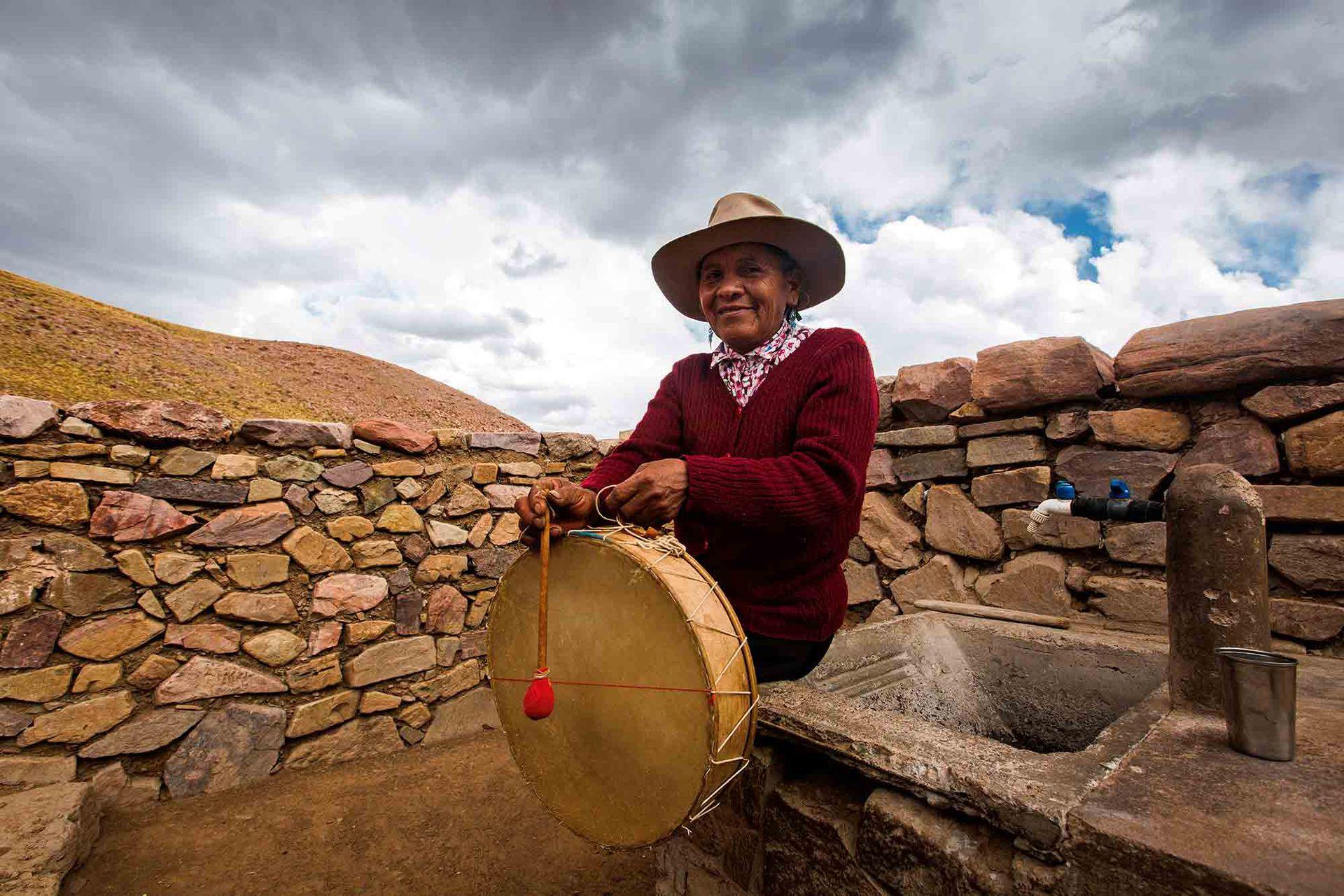 Paulina Lamas en su rancho de Sapagua.