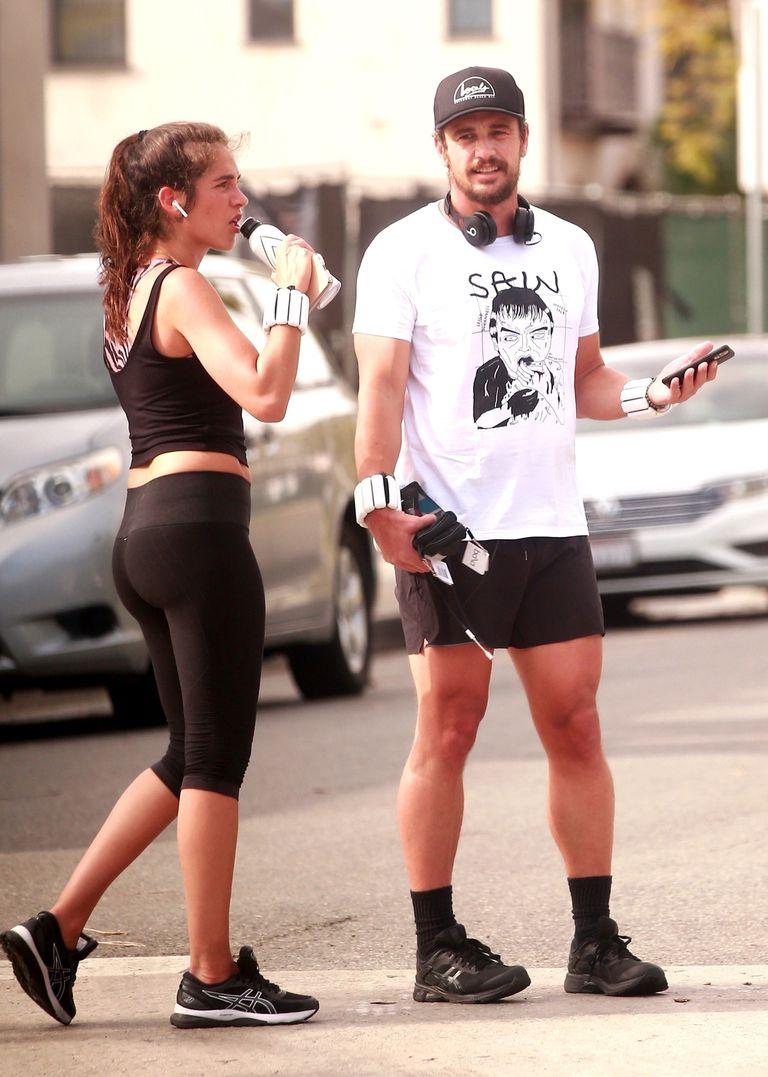 Novios fitness. James Franco y su pareja, Isabel Pakzad, salieron a correr juntos
