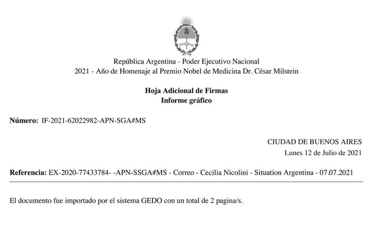 La carta de Cecilia Nicolini al CEO del Fondo Ruso de Inversión Directa