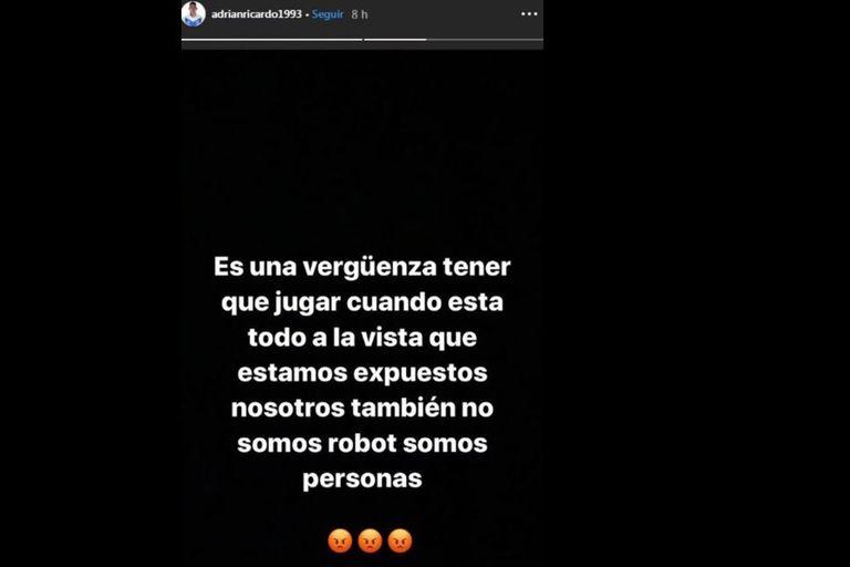 El enojo de Ricardo Centurión por haber tenido que jugar