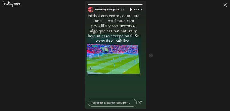 Sebastián Vignolo y su deseo de que vuelva el fútbol con público