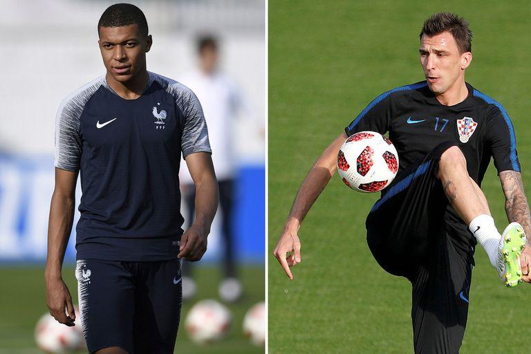 Mbappé y Mandzukic, las cartas goleadoras de Francia y de Croacia