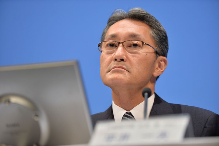 Kazuo Hirai, presidente de Sony, durante el anuncio