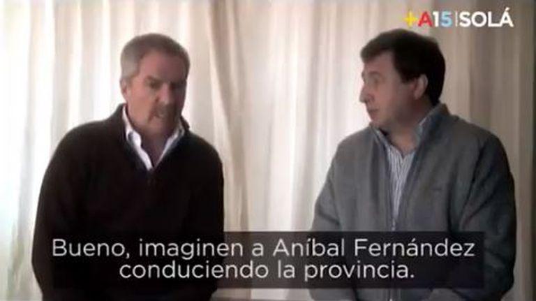 La chicana de Cornejo al Gobierno: un spot electoral de Felipe Solá contra Aníbal Fernández