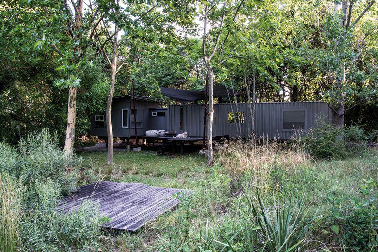 El jardín silvestre de una casa-estudio donde la naturaleza domina y da cobijo
