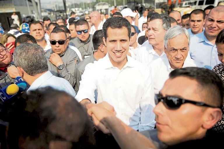 Guaidó, junto a Piñera, en la ciudad colombiana de Cúcuta