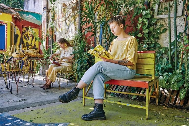 Espacio de lectura al aire libre en Notanpuan