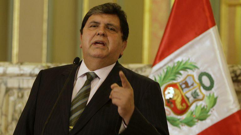 El ex mandatario, Alan García