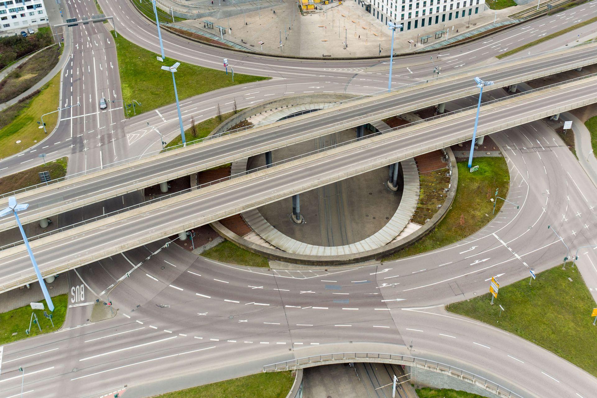 Las autopistas de Halle en Alemania