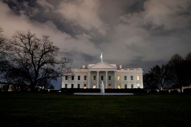 January 20, 2021 - Washington, DC, United States: The White House stands in Washington, D.C., U.S., on Wednesday, Jan. 20, 2021. Trump departs Washington with Americans more politically divided and more likely to be out of work than when he arrived, while awaiting trial for his second impeachment - an ignominious end to one of the most turbulent presidencies in American history. (Europa Press) *** Local Caption *** 07051676