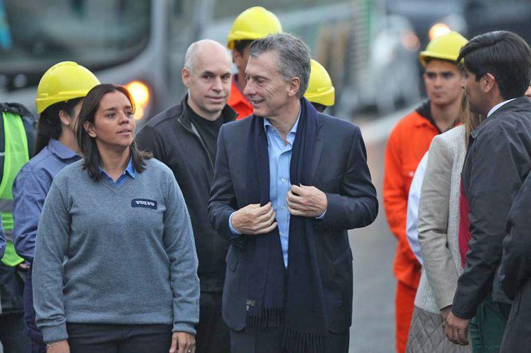Mauricio Macri, en la inauguración del Paseo del Bajo