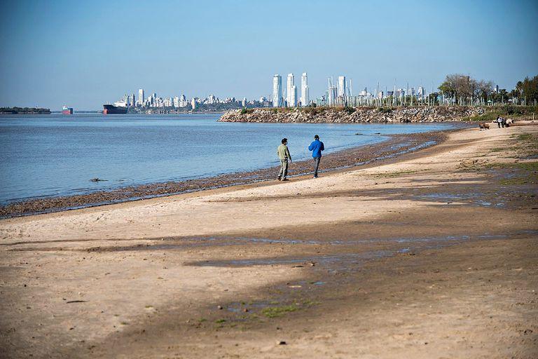 Asi se ve hoy la costa del Paraná en Rosario