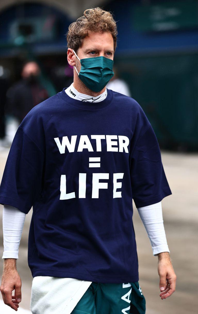 """""""Agua igual a vida"""": la conciencia ecológica de Vettel, siempre presente"""