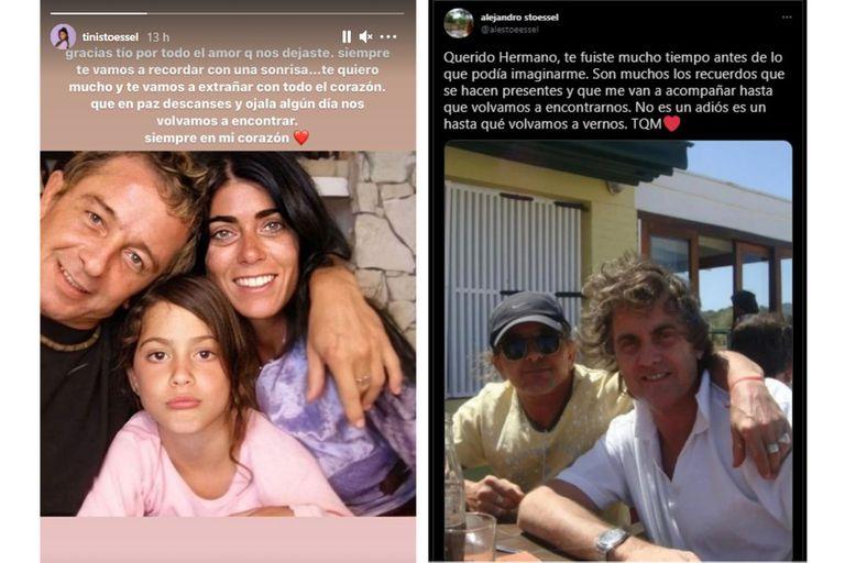 Tini Stoessel despidió a su tío Alejandro con un sentido mensaje en sus redes sociales
