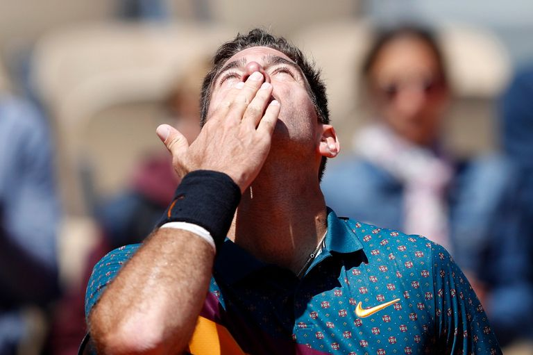 De menor a mayor: Del Potro debutó con un éxito ante Jarry en Roland Garros