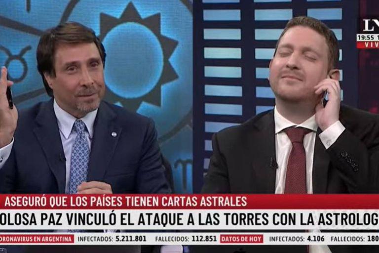 """El insólito pase """"astrológico"""" entre Feinmann y Jony Viale: """"Parecés Ludovica Squirru"""""""