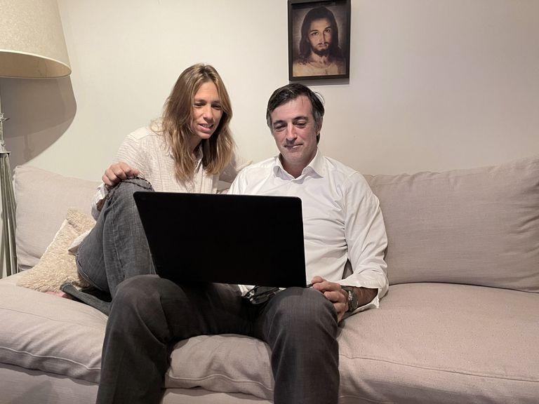 Esteban Bullrich y su mujer, varados en Estados Unidos