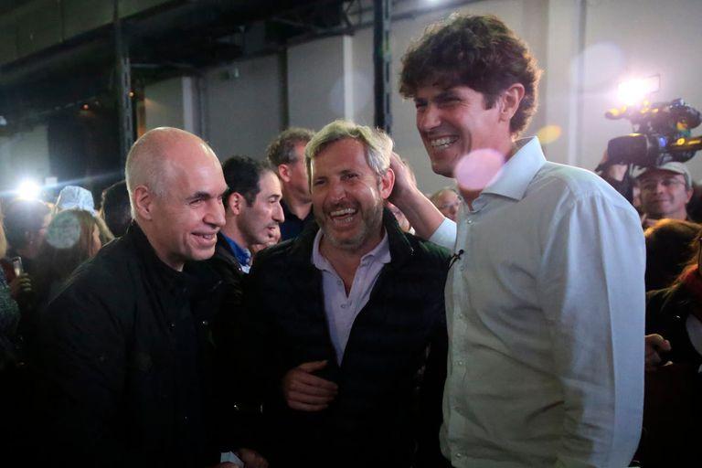 Horacio Rodríguez Larreta, Rogelio Frigerio y Martín Lousteau